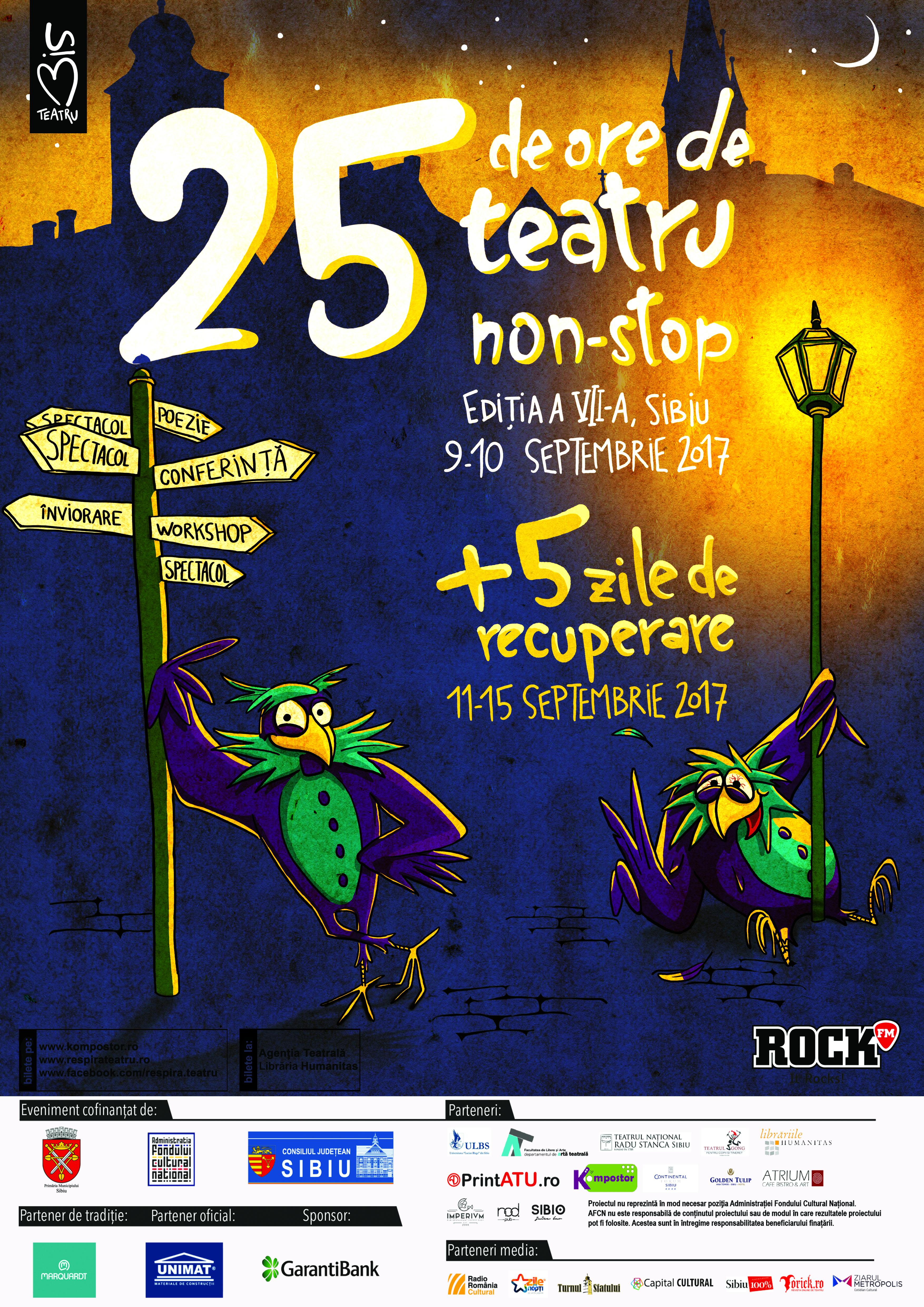 """Festivalul """"25 de ore de teatru non-stop"""" gata de start"""