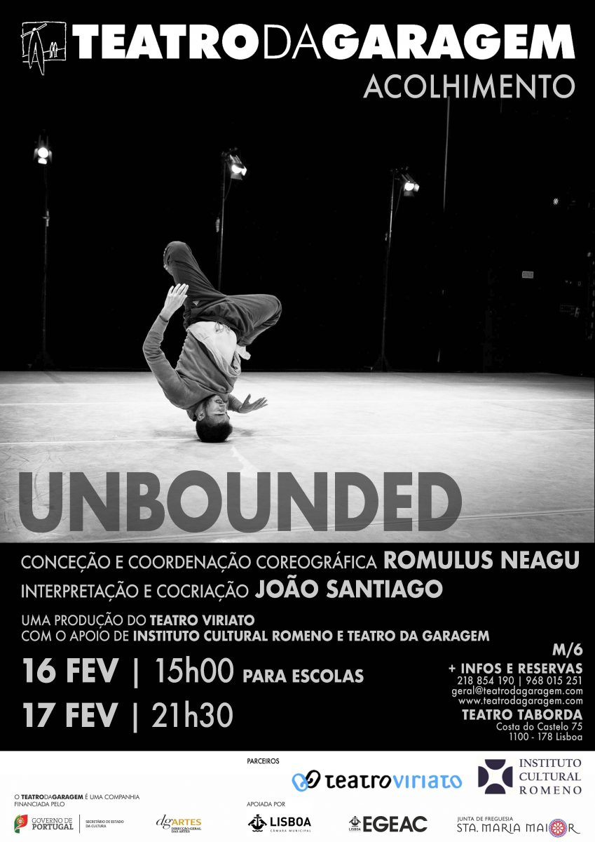 Spectacolul <i>Unbounded</i> la Teatrul Taborda din Lisabona