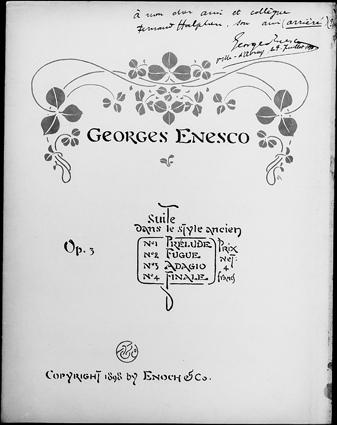 """""""Ora 3 și 20 dimineața: George Enescu cu multă prietenie lui Fernand Halphen"""" – Note pe marginea unui manuscris autograf enescian considerat pierdut"""
