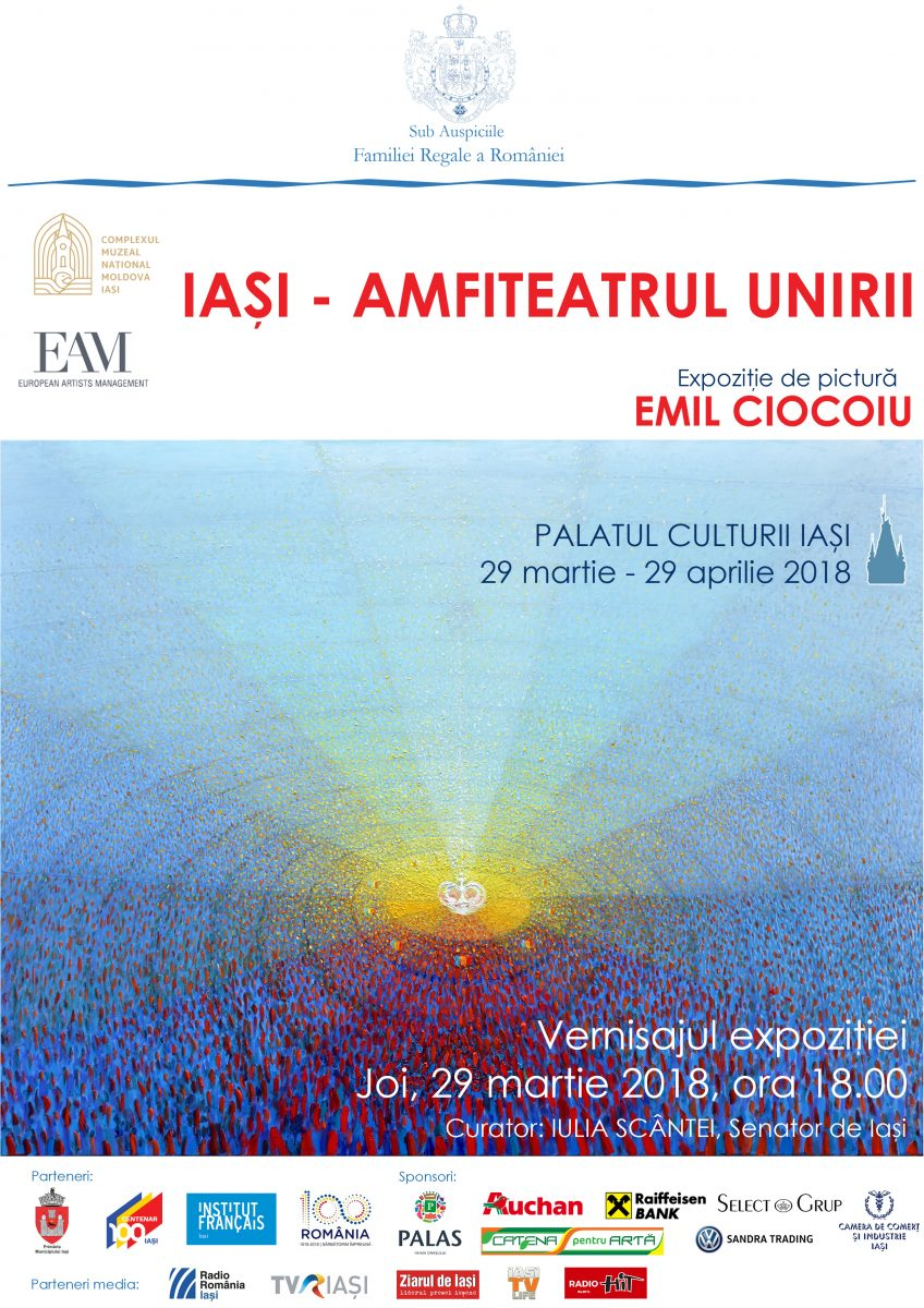 """Expoziția de pictură Emil Ciocoiu """"Iași – amfiteatrul Unirii"""""""