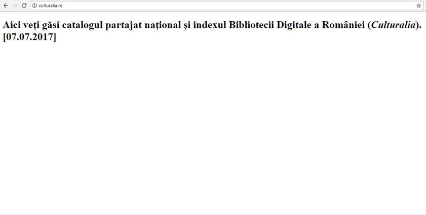 Biblioteca Digitală a României, un proiect rămas încă virtual