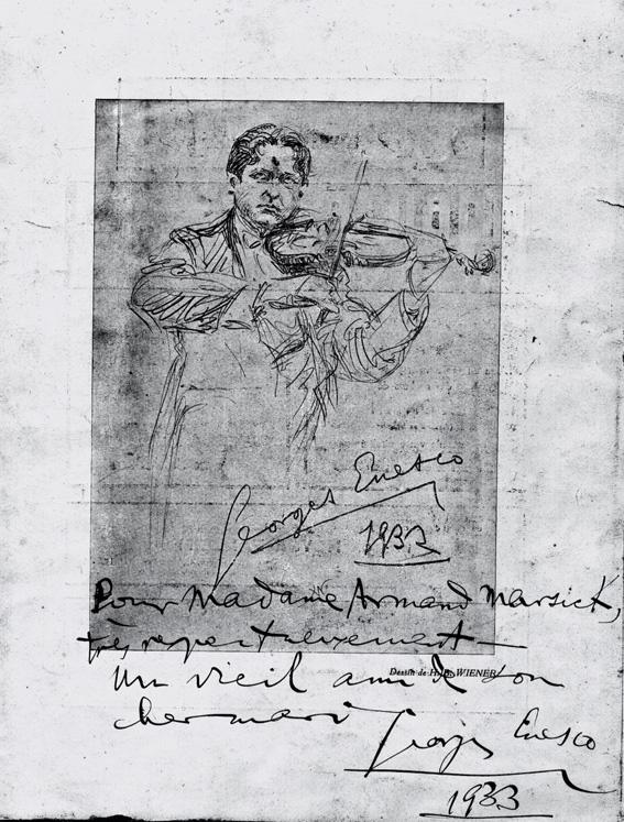Colecția Jacques Marsick: Pe urmele unui mare pedagog al viorii și ale lui George Enescu (II)