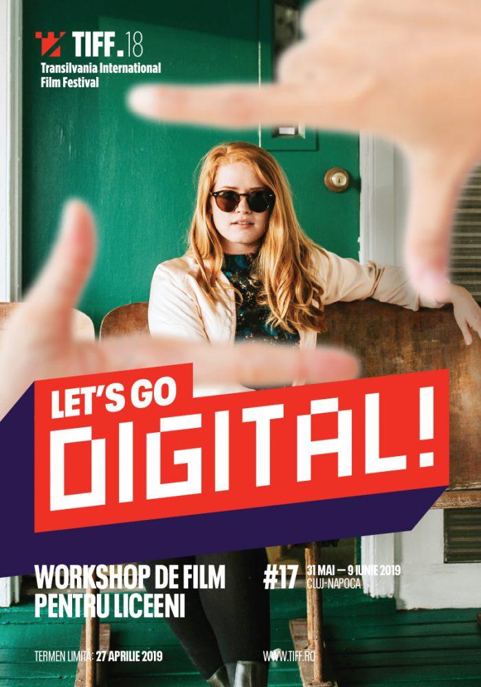 Înscrieri la atelierul de film pentru adolescenți Let'sGo Digital! 2019