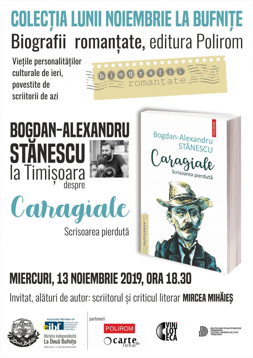 Trei scriitori la Timișoara lansează colecția Biografii romanțate a editurii Polirom