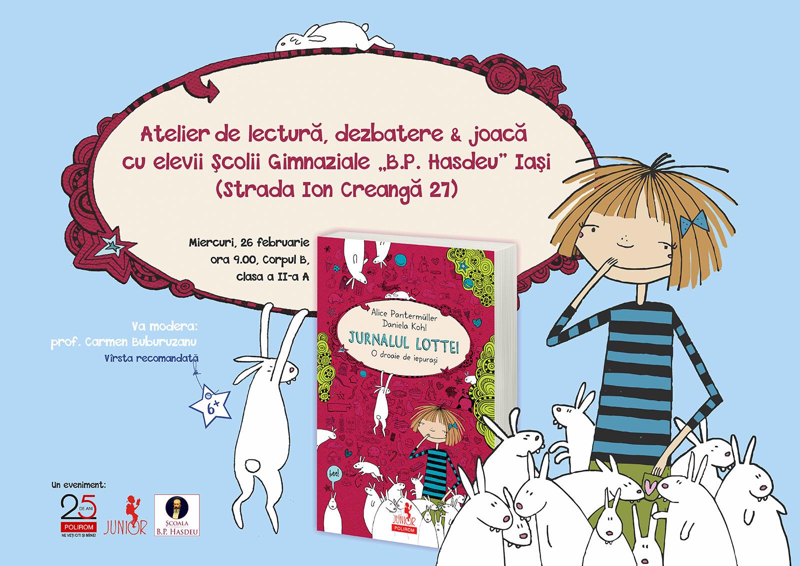 Ateliere de lectură Polirom Junior la Iași