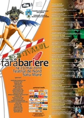 Festivalul Cultural International FARA BARIERE incepe vineri la Satu Mare